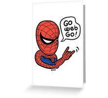 Go Web Go! Greeting Card