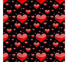 Hearts Red and Black Photographic Print