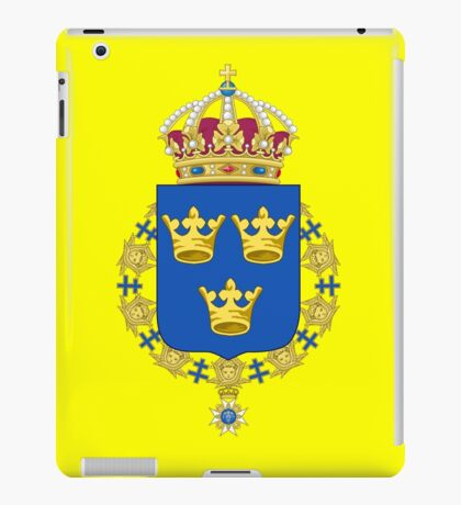 The Coat of Arms of Kingdom of Sweden  iPad Case/Skin