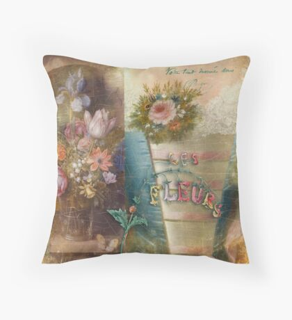 Les Fleurs Throw Pillow