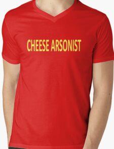 Cheese Arsonist Mens V-Neck T-Shirt