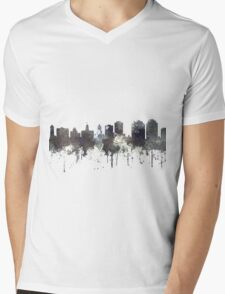 Halifax, Nova Scotia, Canada Skyline - CRISP Mens V-Neck T-Shirt