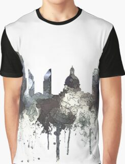 Edmonton, Alberta, Canada Skyline - CRISP Graphic T-Shirt
