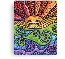 Mosaic Sunscape Canvas Print