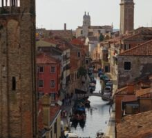 Red Rooftops of Venice  Sticker