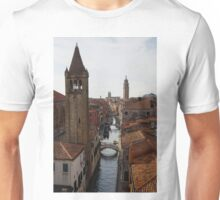 Red Rooftops of Venice  Unisex T-Shirt