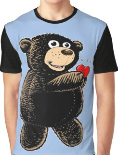 Bear with Heart Graphic T-Shirt