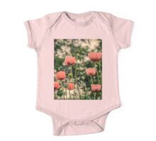 Pink Poppy in late everning light One Piece - Short Sleeve