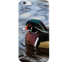 Colorful Forest Jewel - a Wood Duck in a Secluded Lake iPhone Case/Skin