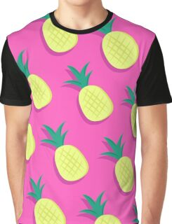 Pink and Yellow Pineapple Fun Graphic T-Shirt