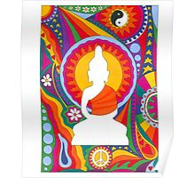 Psychedelic Buddha Poster