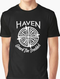 Haven Troubled Tattoo White Logo Graphic T-Shirt