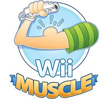 Wii Muscle Photographic Print