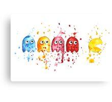 PacMan Watercolor Canvas Print