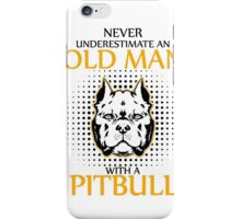 Men's Old Man with a Pit Bull  iPhone Case/Skin