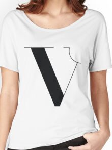 Original Typeface - letter V Women's Relaxed Fit T-Shirt