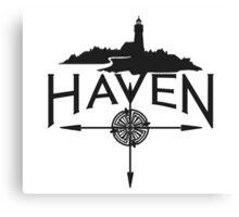 Haven Black Logo Canvas Print
