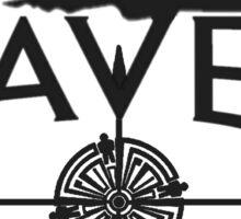 Haven Black Logo Sticker