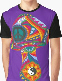 Psychedelic Mushroom Graphic T-Shirt