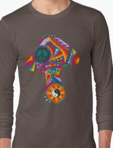 Psychedelic Mushroom Long Sleeve T-Shirt