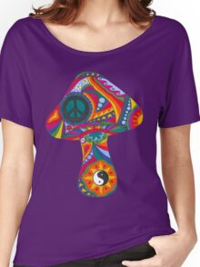 Psychedelic Mushroom Women's Relaxed Fit T-Shirt