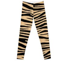 0492 Pale Gold Tiger Leggings