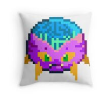 Digital Pixel Virus Throw Pillow