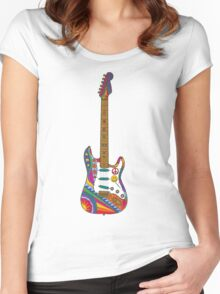 Psychedelic Guitar Women's Fitted Scoop T-Shirt