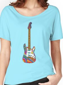 Psychedelic Guitar Women's Relaxed Fit T-Shirt