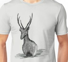 Deer in the water Unisex T-Shirt