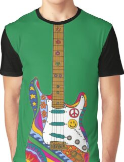 Psychedelic Guitar Graphic T-Shirt