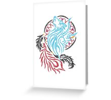 Wolf Dreamcatcher Greeting Card