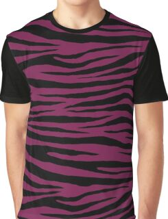 0505 Pansy Purple Tiger Graphic T-Shirt