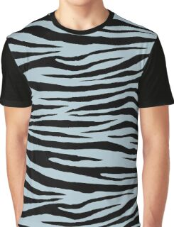 0508 Pastel Blue Tiger Graphic T-Shirt