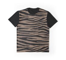 0509 Pastel Brown Tiger Graphic T-Shirt