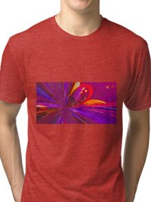 Town in  color and explosion Tri-blend T-Shirt