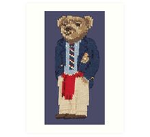 Polo Bear: Knit in Blazer w/ Red Sweater Art Print