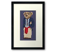 Polo Bear: Knit in Blazer w/ Red Sweater Framed Print