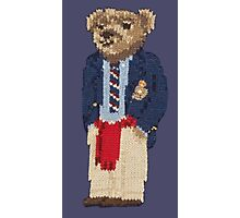 Polo Bear: Knit in Blazer w/ Red Sweater Photographic Print