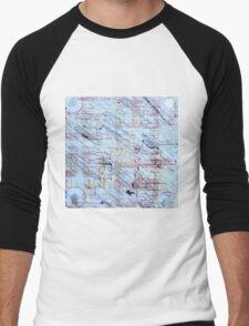 Linien und Ringe Men's Baseball ¾ T-Shirt