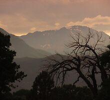 Twilight  (Pikes Peak, Colorado Springs) by dfrahm