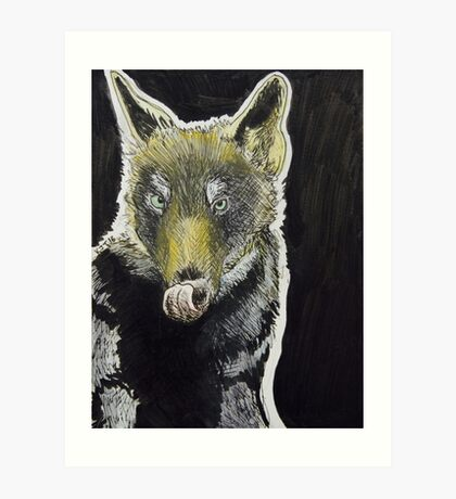 Big Bad Wolf Illustration Art Print