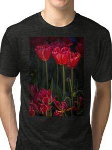 Red Tulips Tri-blend T-Shirt