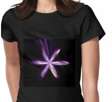 Purple Polygonal Space Flower Womens Fitted T-Shirt