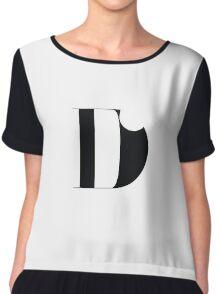 Original Typeface - letter D Chiffon Top
