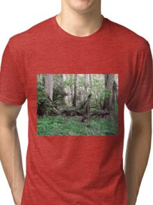 Woodland Scene - Green Tri-blend T-Shirt