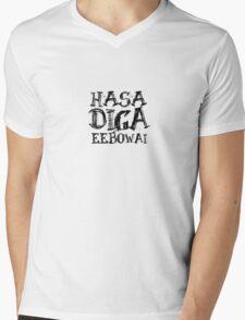 HASA DIGA EEBOWAI Mens V-Neck T-Shirt