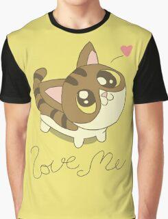 Love Me Cat Graphic T-Shirt