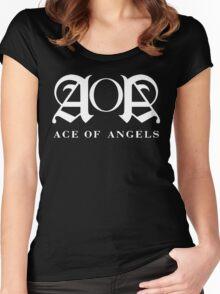 Kpop - AoA Shirt (White) Women's Fitted Scoop T-Shirt