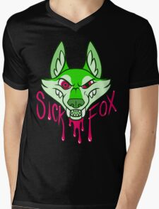 Sick Fox Mens V-Neck T-Shirt